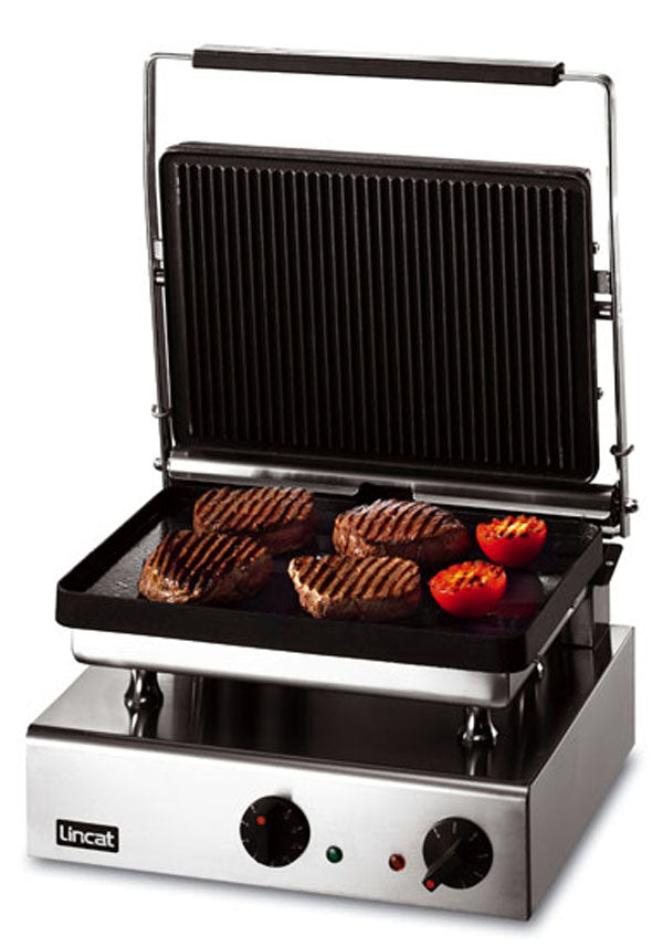 Lincat GG1R Electric Ribbed Grill Large - ribbed top, smooth bottom,Pannini Grills,Lincat