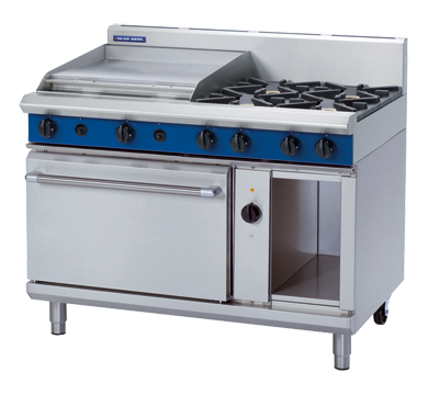 Blue Seal Evolution Series GE58B - 1200mm Gas Range Electric Convection Oven,Oven Ranges,Blue Seal