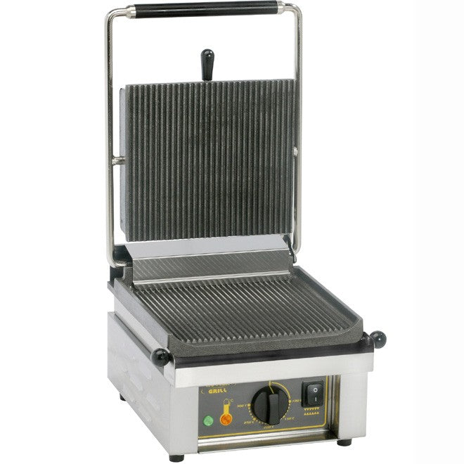 Roller Grill Savoye R Electric Single Contact Grill, Cast Iron 330W x 385D x 220H (mm) 2kW,Contact Grills,Roller Grill