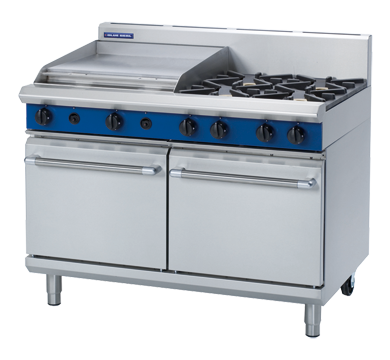 Blue Seal Evolution Series G528B - 1200mm Gas Range Double Static Oven,Oven Ranges,Blue Seal