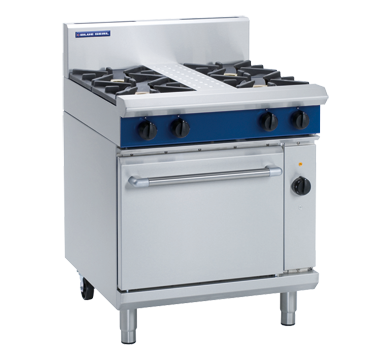 Blue Seal Evolution Series GE54D - 750mm Gas Range Electric Convection Oven,Oven Ranges,Blue Seal