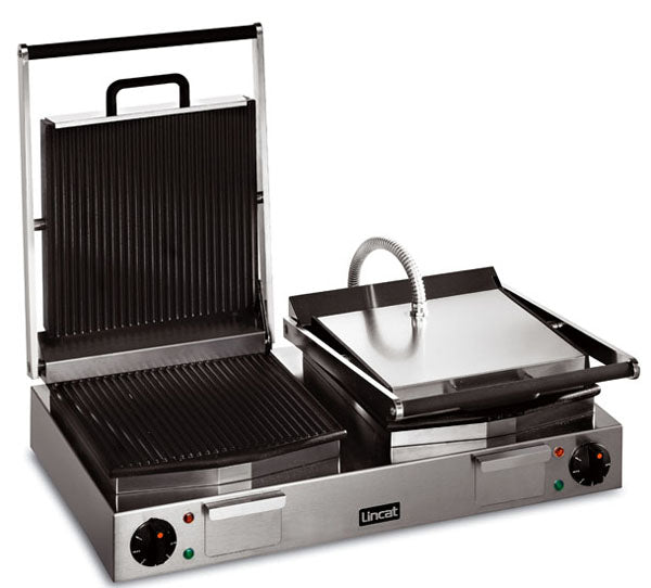 Lincat LPG2 Electric Panini Grill Double - ribbed top and bottom,Pannini Grills,Lincat