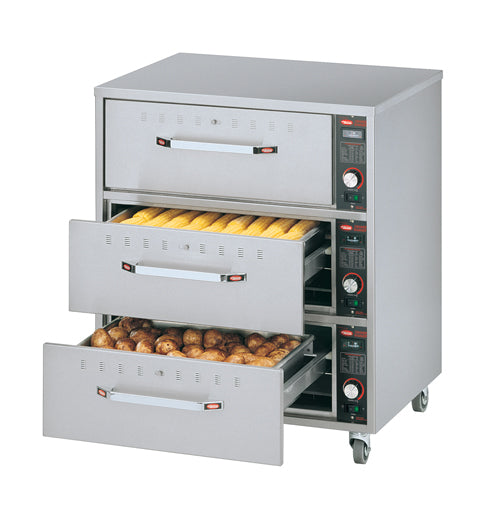 Hatco HDW-3N Freestanding Narrow Three Drawer Warmer 530W x 686D x 794H (mm) 3kW,Drawer Warmers,Hatco