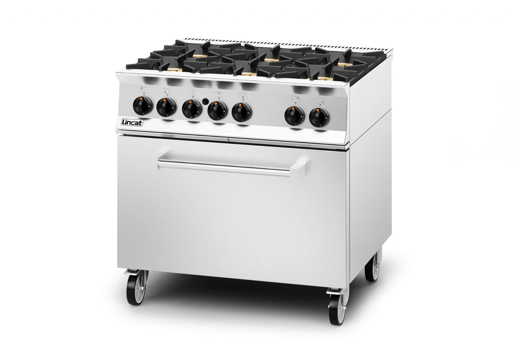 Lincat OG8002/N/DD Gas 6 Burner Range Drop Down Door,Oven Ranges,Lincat