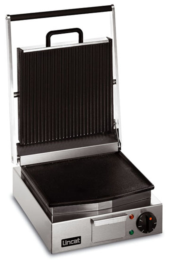 Lincat LRG Electric Ribbed Grill Single - ribbed top, smooth bottom,Pannini Grills,Lincat