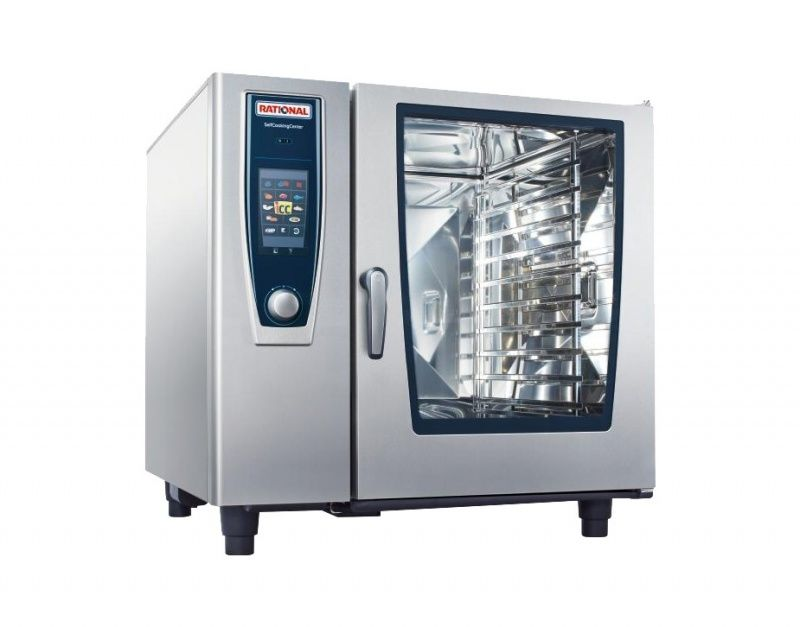 Rational 10 Grid Self Cooking Center 2/1GN Natural Gas Combination Oven,Self Cooking Center,Rational