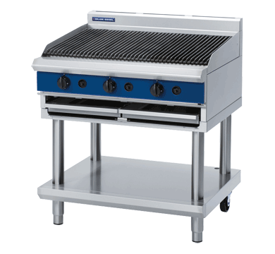 Blue Seal Evolution Series G596-LS - 900mm Gas Chargrill  Leg Stand,Chargrills,Blue Seal
