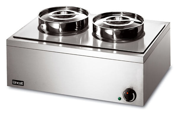 Lincat LRB2W Electric Bain Marie Double round pot (wet or dry),Bains Maries,Lincat