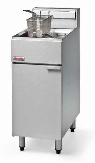 Blue Seal Fastfri FF18 400mm Gas Fryer - Single Pan,Fryers - Gas,Blue Seal