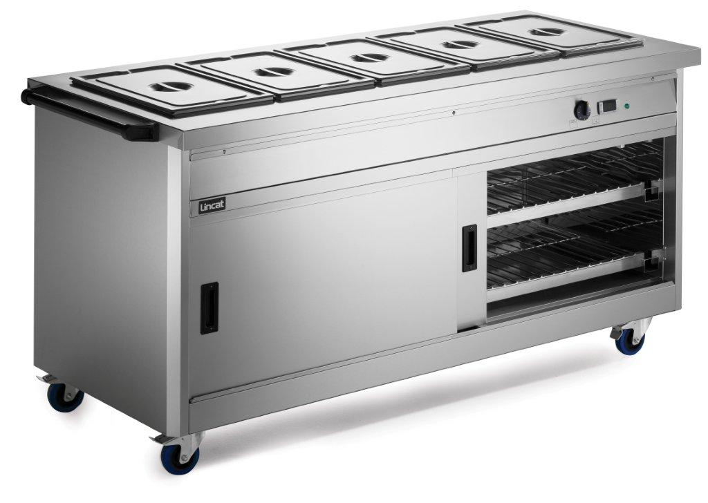 Lincat P8B5PT Panther 800 Hot Cupboard Bain Marie Top Pass Through,Bains Maries,Lincat