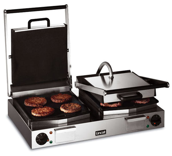 Lincat LCG2 Electric Contact Grill Double - smooth top and bottom,Pannini Grills,Lincat
