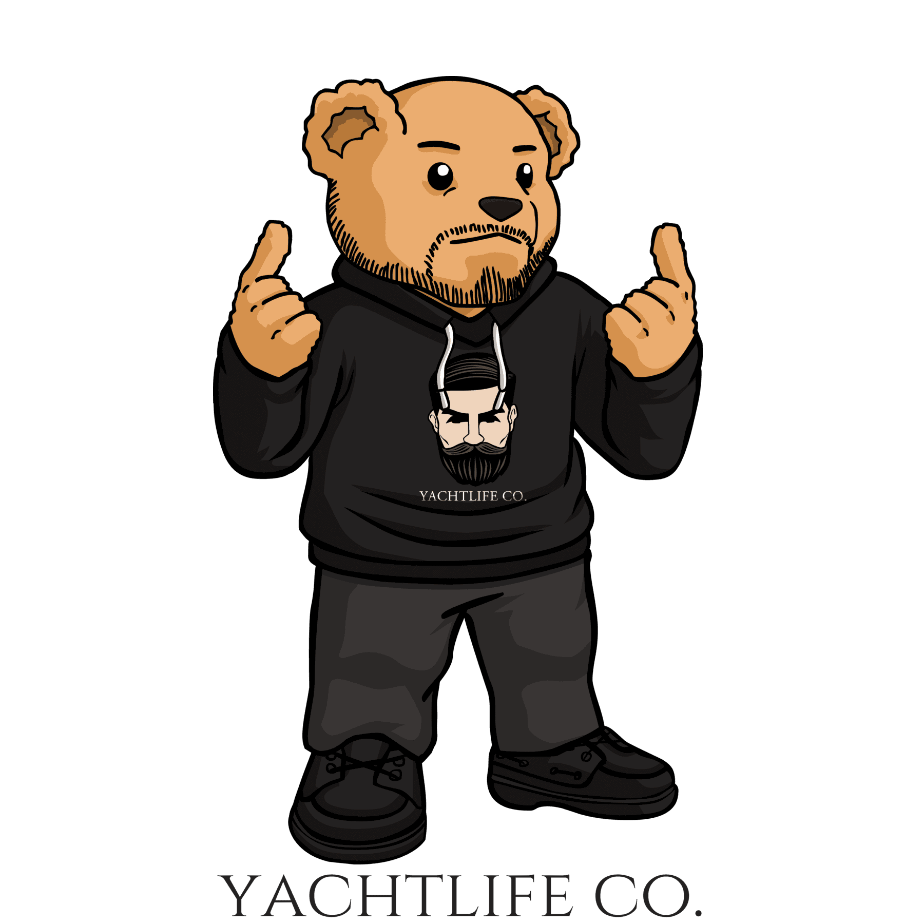 Erwin The Bear Hooded Sweatshirt - YACHTLIFE CO.