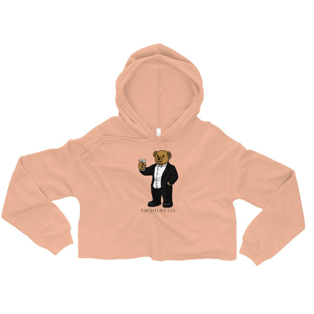 Tuxedo Anthony The Bear Crop Hoodie - YACHTLIFE CO.