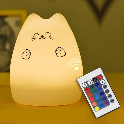 MeowUp lamp Cute with Remote LED Cat Night Lamp, Worldwide Shipping, Cat LED light