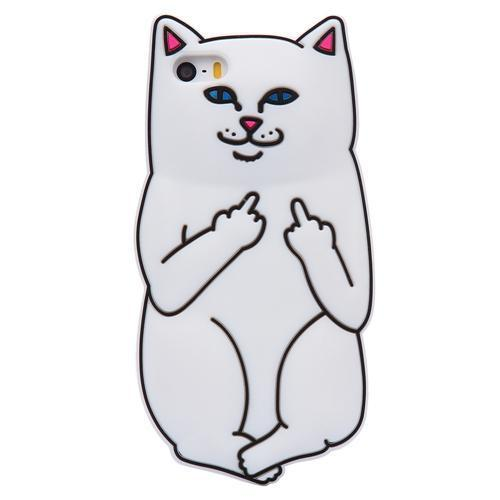 MeowUp phone case White / For iPhone 5 5S SE Hilariously Cute 3D Case