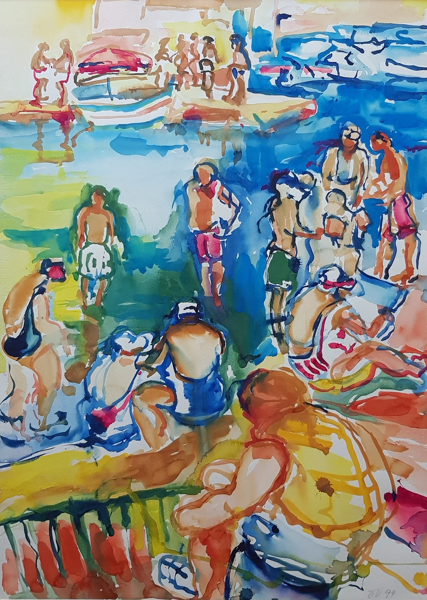 Bathers at the Jetty (1999)