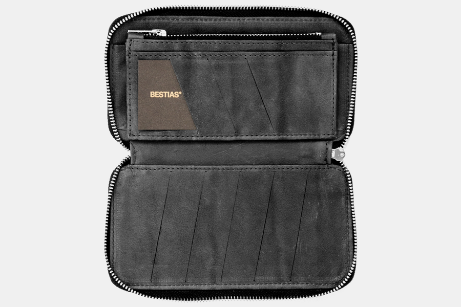 Billetera Zip Black