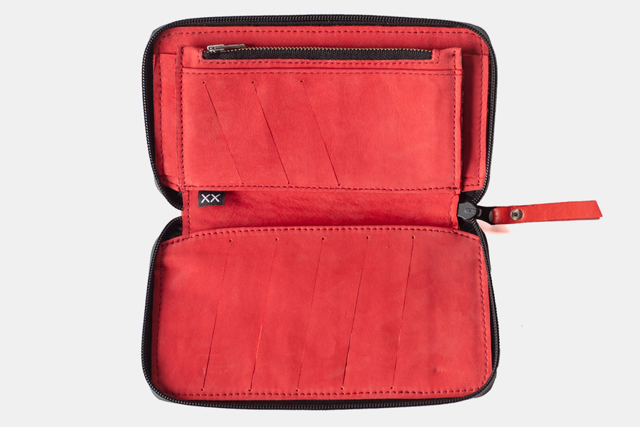 Billetera Zip Red
