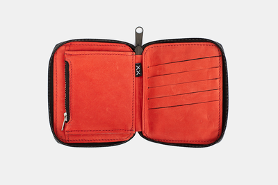 Billetera Mini Zip Red