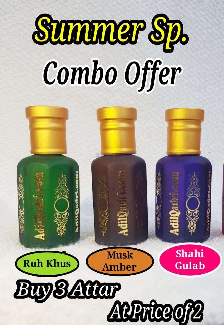 (COMBO) Adil Qadri  Summer sp. Synthetic Attar Premium Quality Buy 3 Synthetic Attar At Price of 2 Synthetic Attars 10 ML / 1 TOLA  Combo Offer ( Select Synthetic Attars COMBO From The Option Above.)