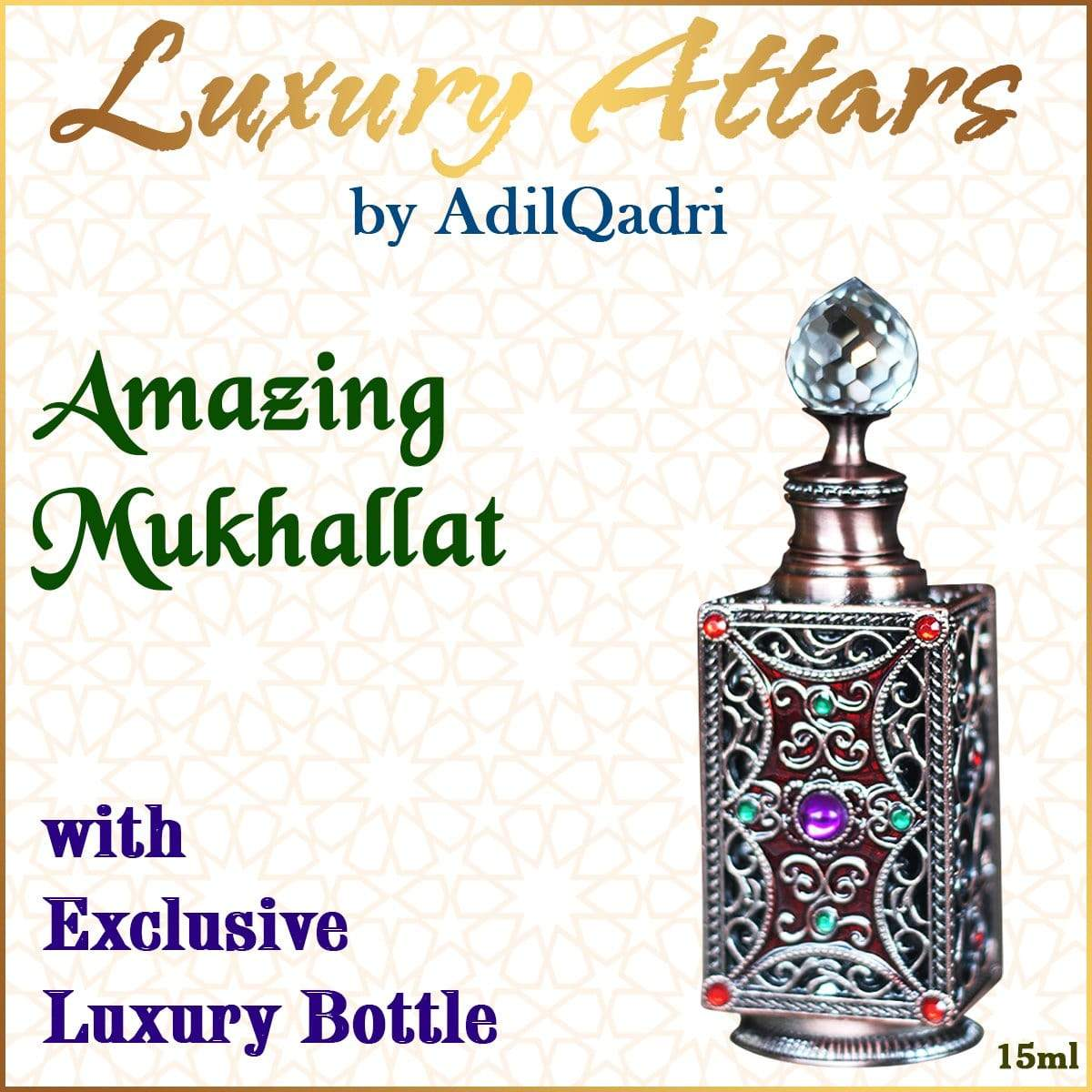 Adilqadri Amazing Mukhallat Luxury savour unisex Non Alcoholic Synthetic Attar perfume