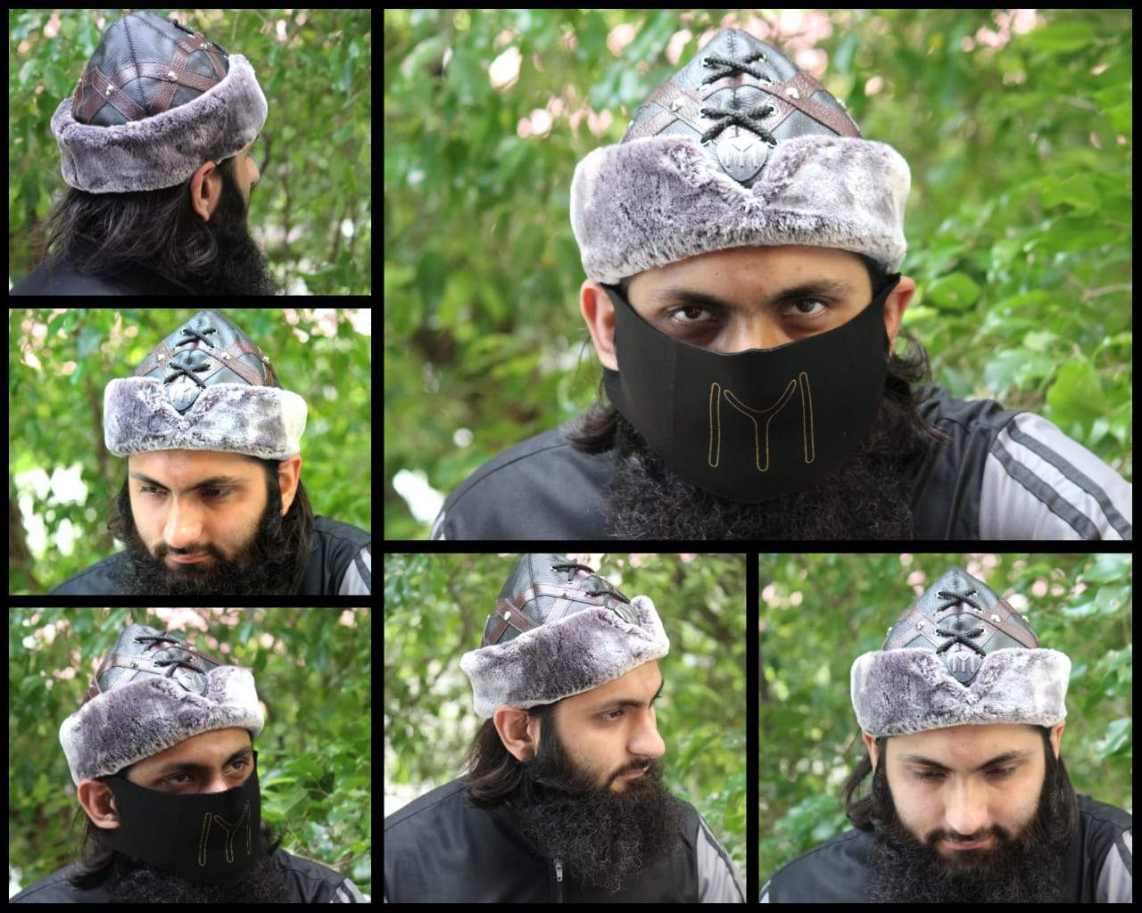 Adilqadri Ertugrul Cap Winter Hat High Quality Hand Made Model D1 With Free kayi Mask & Sticker