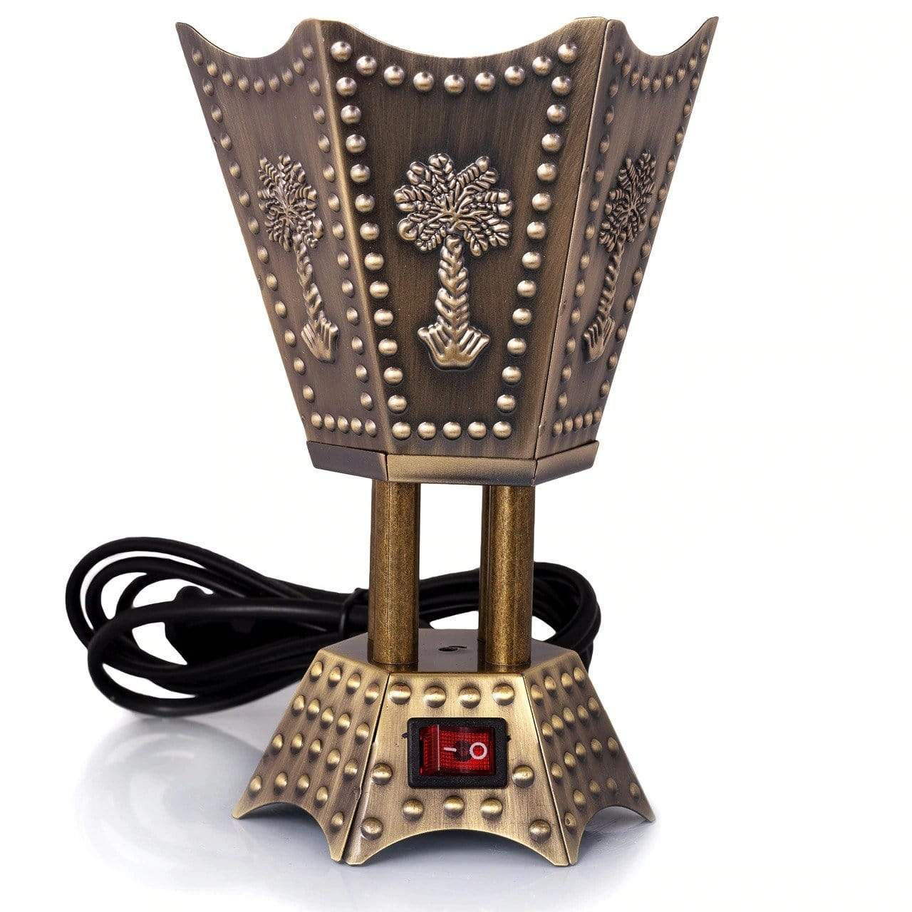 Adilqadri Ⓡ King look 6 Corner Electric Bakhoor Oudh Burner Metal Body