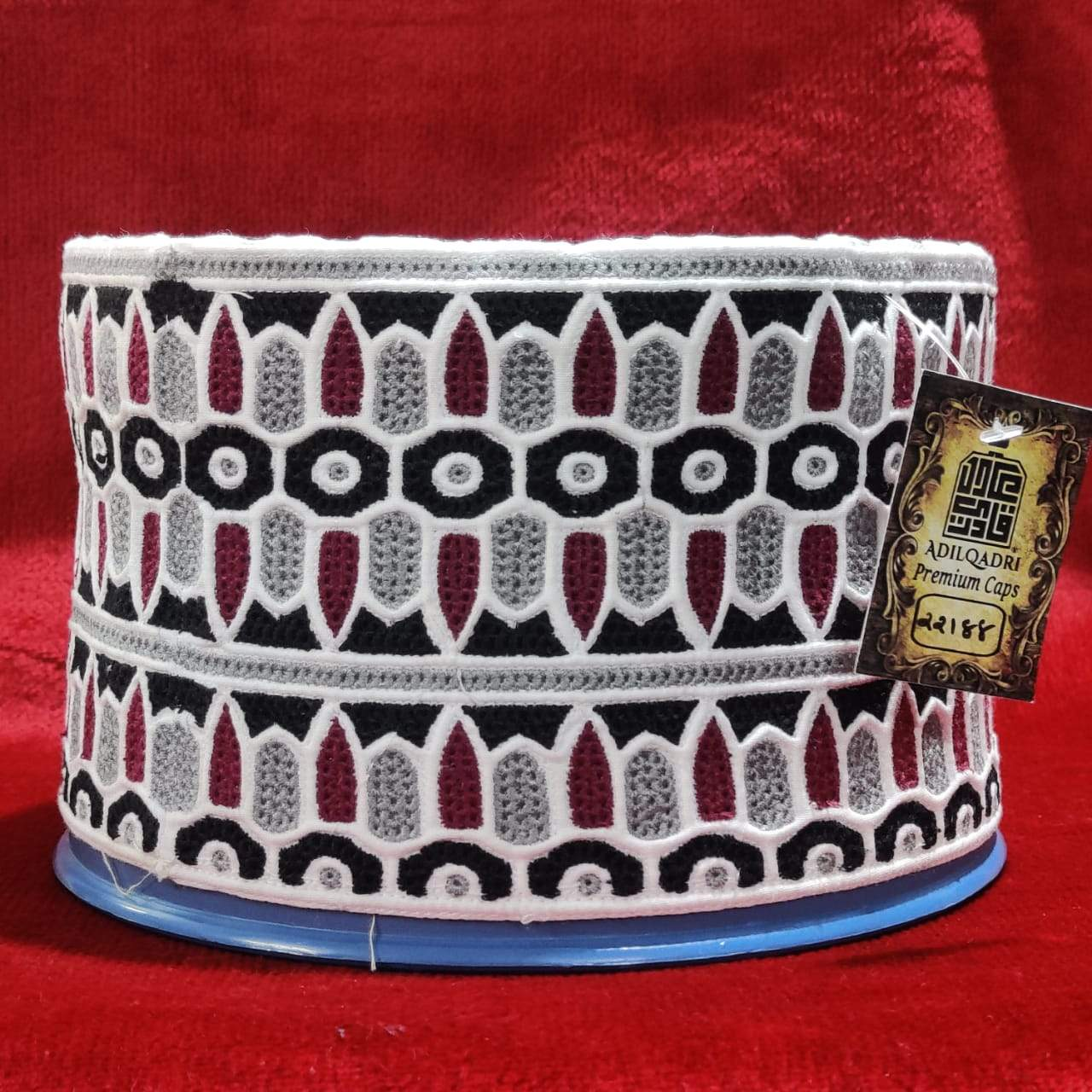 Adilqadri New Original Omani Barkati Cap Soft Cotton Material Model No 22188 Size 22 (Barkati Topi)