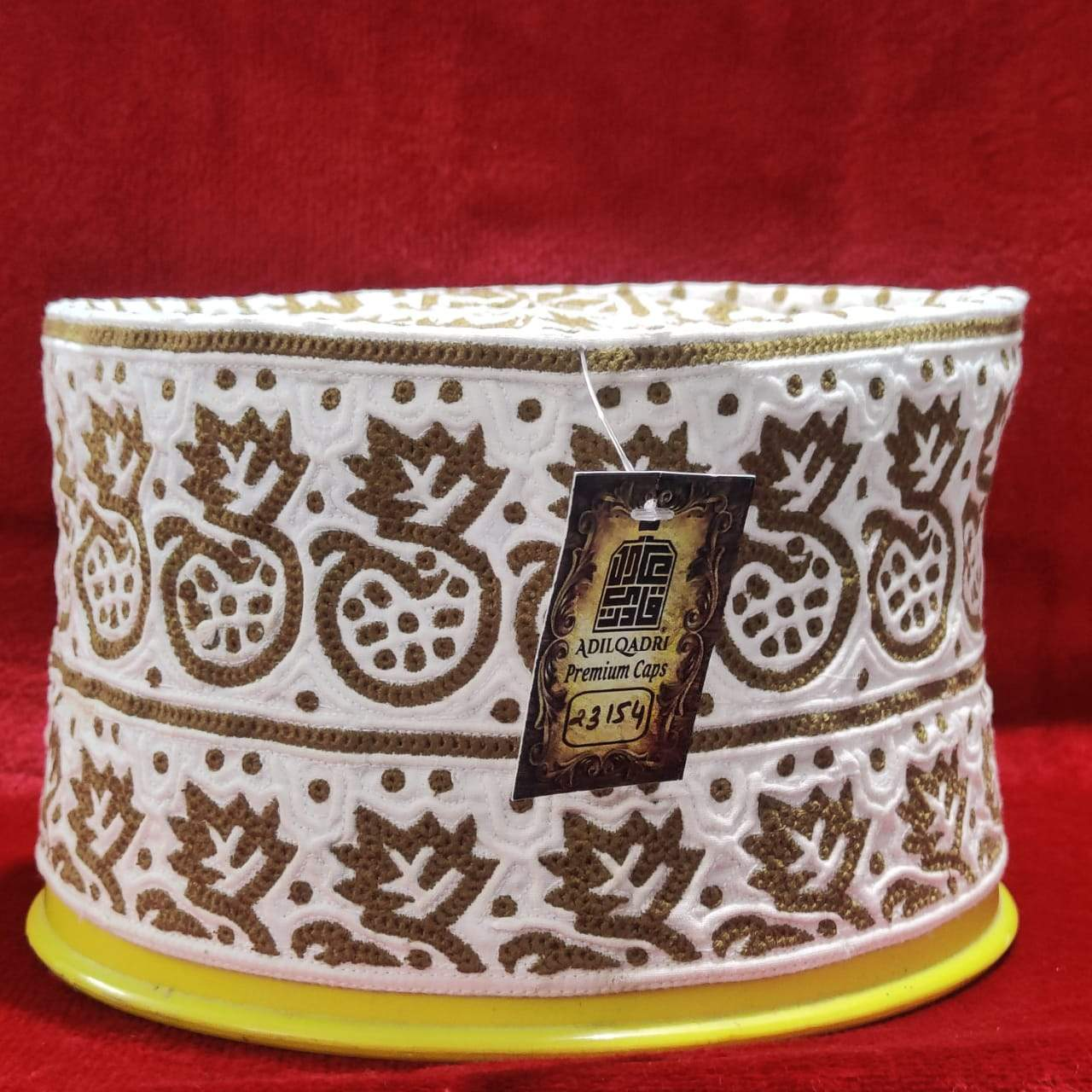 Adilqadri New Original Omani Barkati Cap Soft Cotton Material Model No 23154 Size 23 (Barkati Topi)