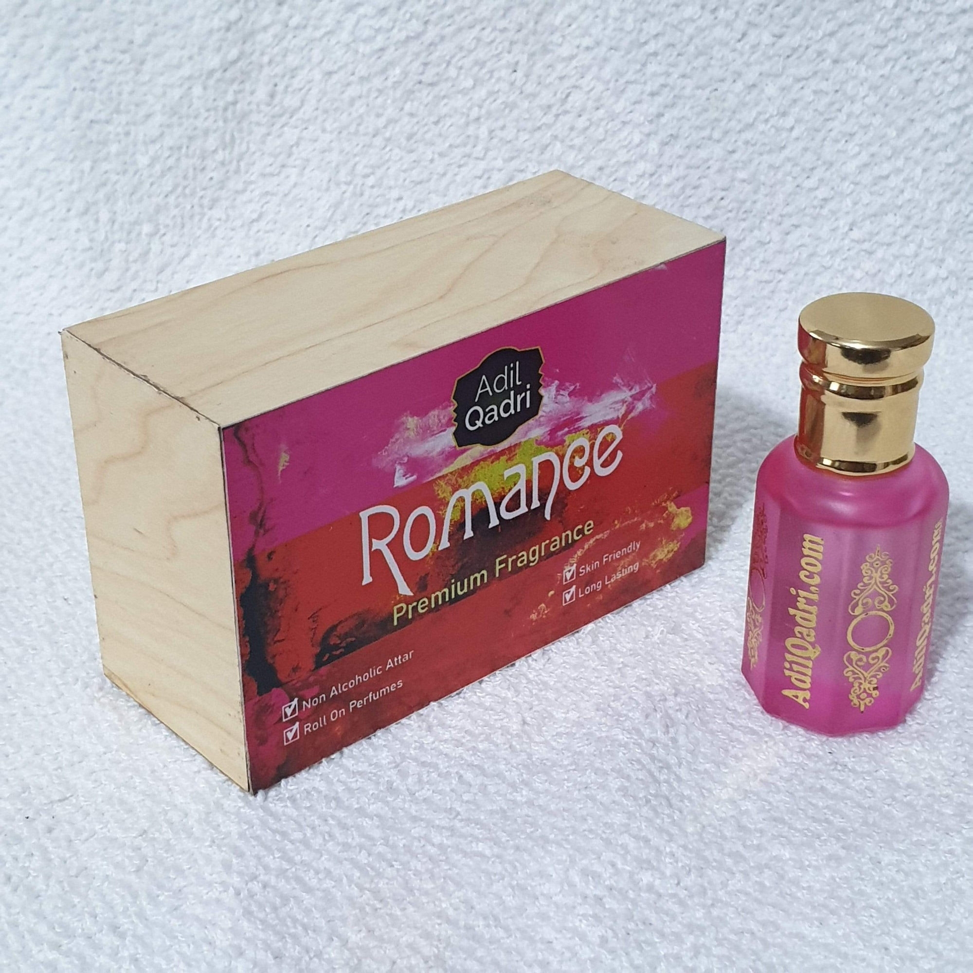 Adilqadri Romance Premium Quality  10 Ml. Synthetic Attar With Atractive Wooden Box