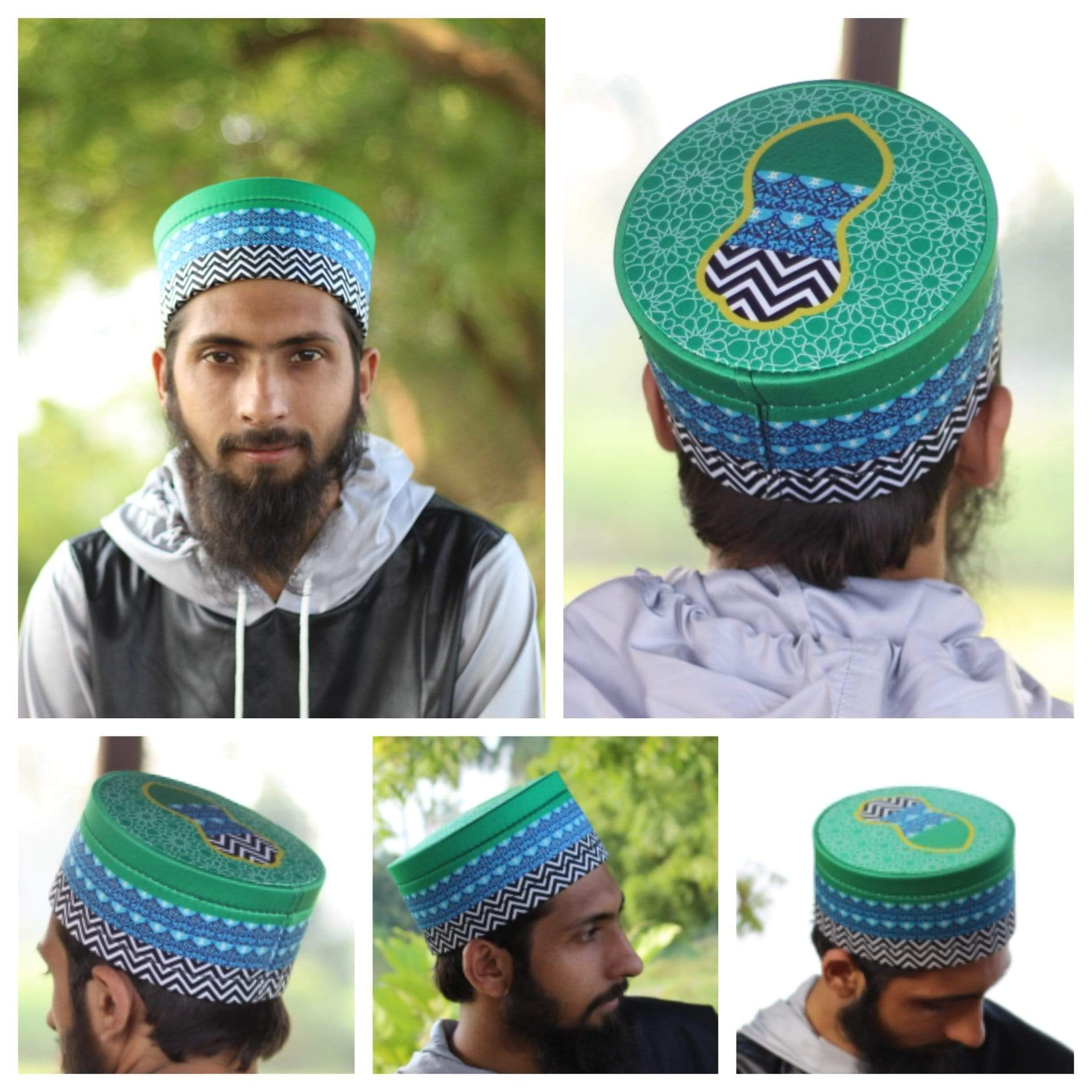 AdilQadri Series 2020 Madani Parcham Hand Made Stylish Designer Islamic Cap #AQCAP