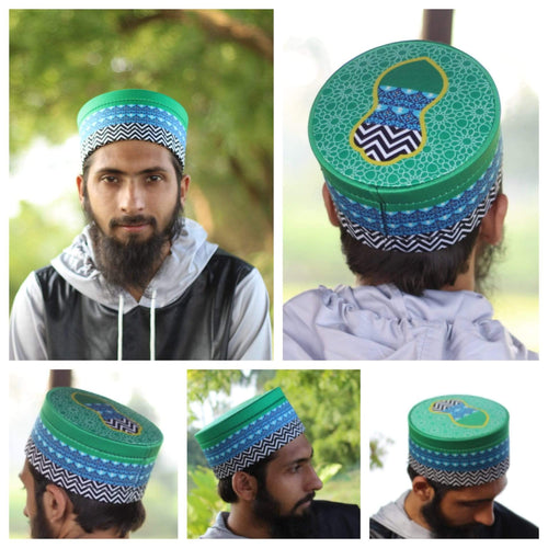 AdilQadri Series 2020 Madani Parcham Hand Made Stylish Designer Islamic Cap