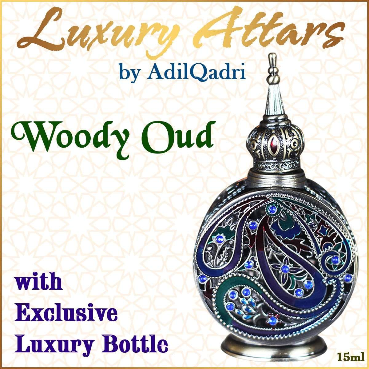 Adilqadri Woody Oud Luxury savour unisex Non Alcoholic Synthetic Attar perfume