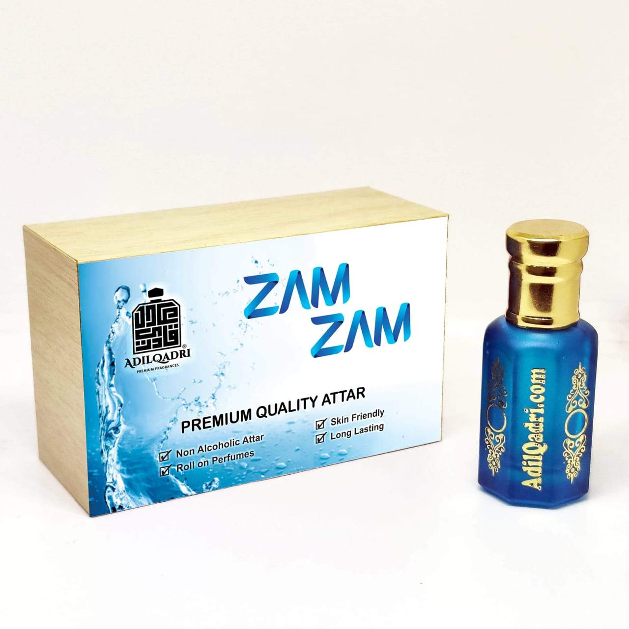 Adilqadri ZamZam Premium Quality  10 Ml. Synthetic Attar With Atractive Wooden Box