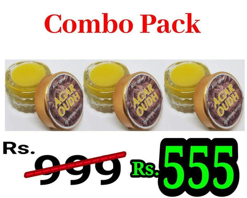Agar Oudh Attar Body Cream Combo 3pcs
