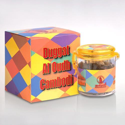 Buy Al Haramain Duggat Al Oudh Cambodi Pure Original Bakhoor Wood Sticks - 100g Online in india | Adilqadri.com