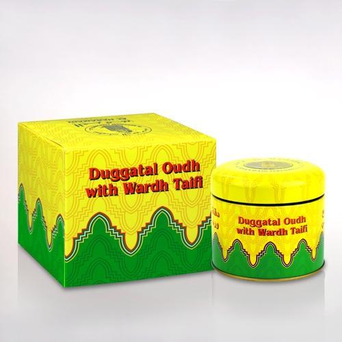 Buy Al Haramain Duggat Al Oudh with Wardh Taifi Pure Original Bakhoor Wood Sticks - 100g Online in india | Adilqadri.com