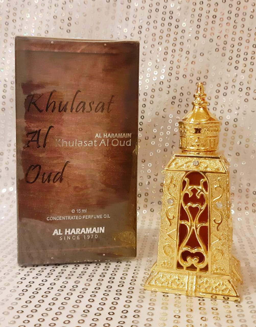 Al Haramain Khulasat al oudh Synthetic Attar Pure Imported Synthetic Attar Perfume 15ml (U A E  Dubai)