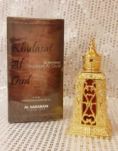Al Haramain Khulasat al oudh Attar Pure Imported Attar Perfume 15ml (U A E  Dubai)
