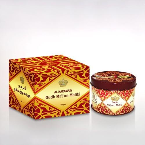 Buy Al Haramain Oudh Majun Maliki Pure Original Incense Burner's Fragrance Wooden Sticks - 100g Online in india | Adilqadri.com