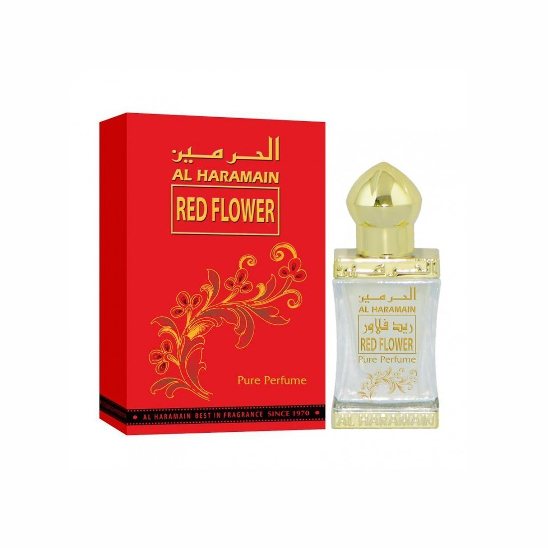 Al Haramain Red Flower  Pure Original Imported  Perfume Attar Oil ( 12 ml)