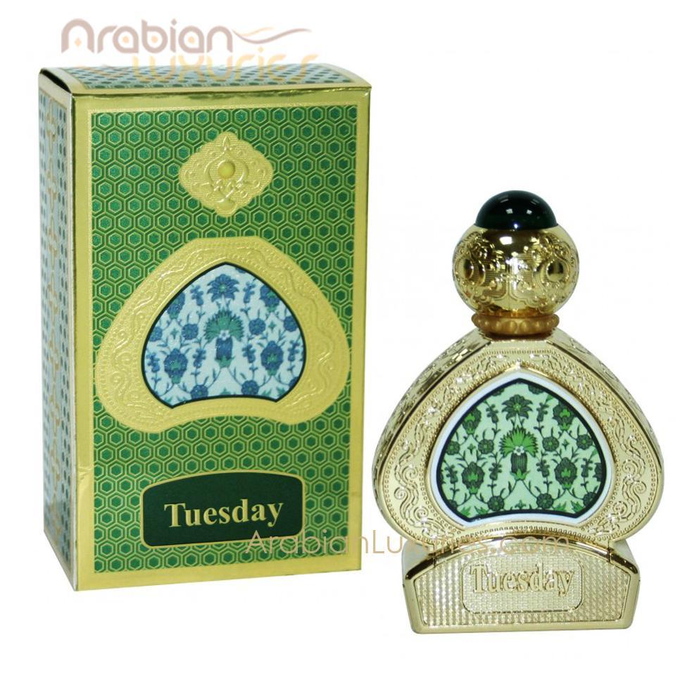 Buy Al Haramain Tuesday Pure Attar Perfume Imported  15ml Online in india | Adilqadri.com