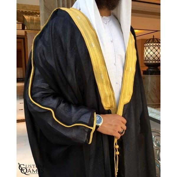 Buy Arabic Bisht Thobe Black Colour Online in india | Adilqadri.com