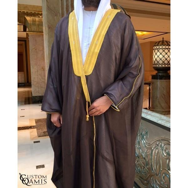 Buy Arabic Bisht Thobe Dark Brown Colour Online in india | Adilqadri.com