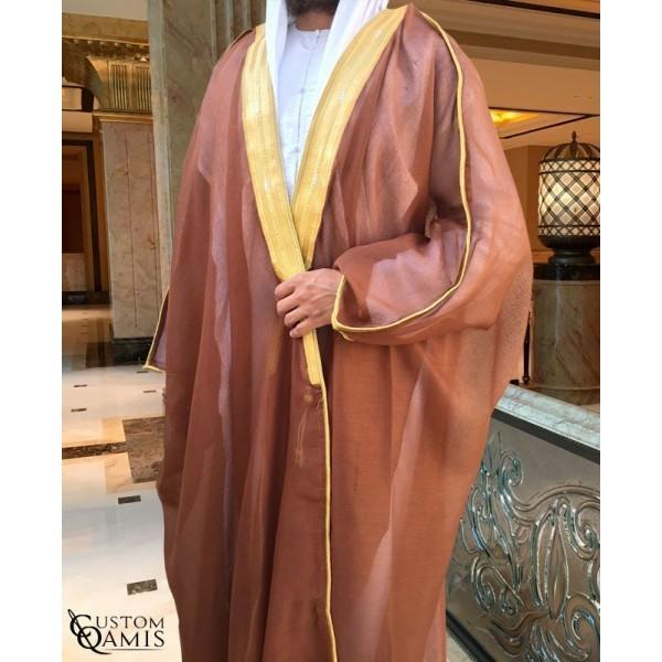 Buy Arabic Bisht Thobe Light Brown Colour Online in india | Adilqadri.com