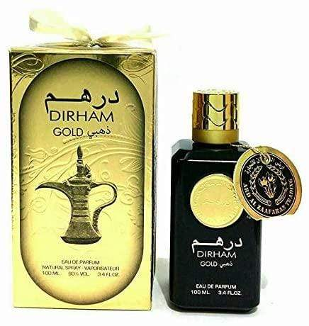 Dirham Gold Perfume Spray  By Ard Al Zafran 100ml for Men and Women Made in UAE Dubai
