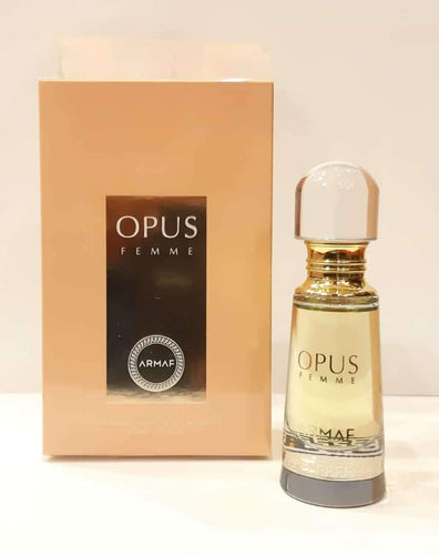 ARMAF Opus Women Homme  Pure Imported NON ALCOHOLIC Attar PERFUME OIL 20 ml