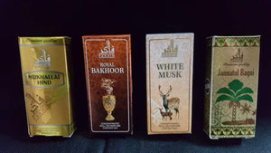 Buy 4 Attar At Price of 2  (Attar Combo)  Fakhir (Made in U.A.E. Dubai) Orignal Imported 8ml Attar Roll on Perfume Jannatul Baqui, white musk,Mukhalat Hind, Bakhoor
