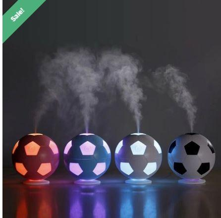Color Lamp Humidifier White/Black (Soccer Ball Design)  HUMIDIFIER ESSENTIAL OIL DIFFUSER AIR FRESHER MIST MAKER, With Free Essential Oil worth Rs. 399