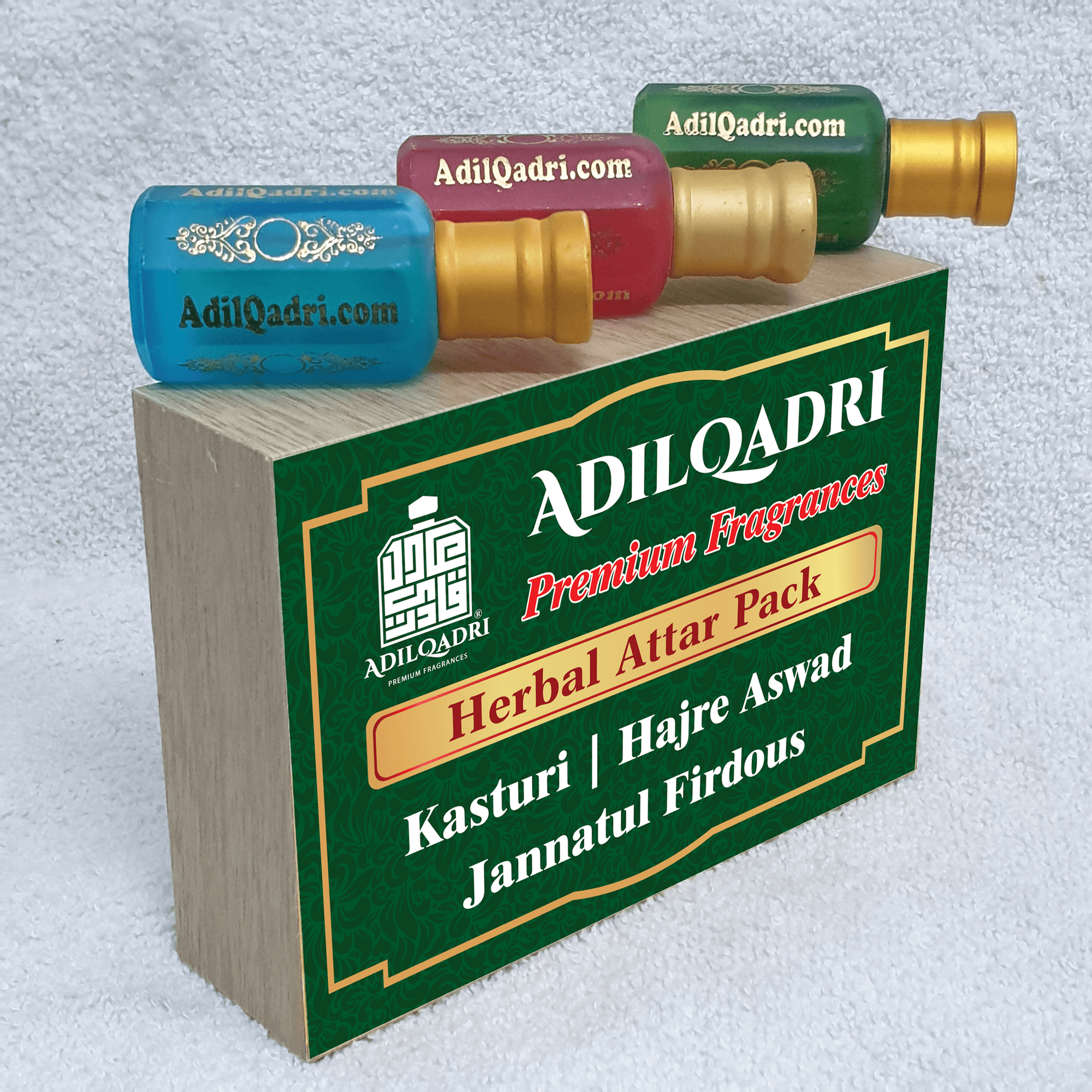 (COMBO) Adil Qadri Herbal Attar Pack Premium Quality Combo With Attractive Wooden Box Buy 3 Attar At Price of 2  Attars  10 ML X  3 Bottles